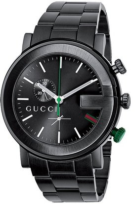 Gucci G Chrono 44mm Black Stainless Steel Watch-YA101331 (Black) - Jewelry