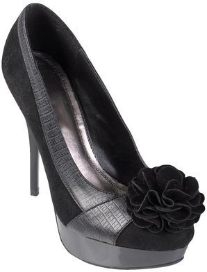 Hailey Jeans Co. Womens Flower Accent Stiletto