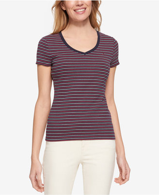 Tommy Hilfiger V-Neck T-Shirt, Only at Macy's $24.50 thestylecure.com