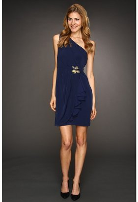 Max & Cleo One Shoulder Jersey Dress (Peacock) - Apparel