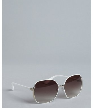 Marc by Marc Jacobs white metal frame oversized sunglasses