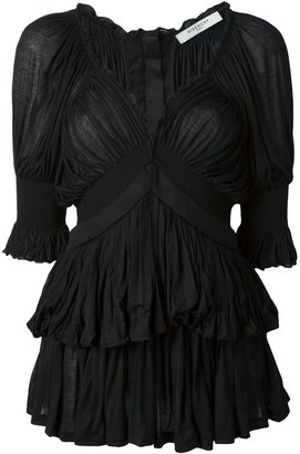 Givenchy gathered tunic top