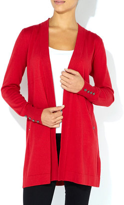 Wallis Red Pocket Cardigan