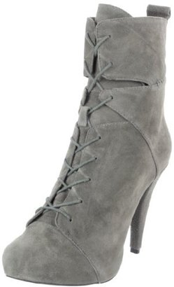 Charlotte Ronson Women's Irina Lace-Up Cut Out Bootie