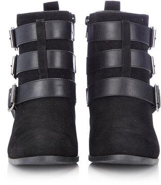Wallis Black Buckle Ankle Boot