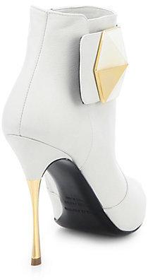 Nicholas Kirkwood Buckled Leather Ankle Boots