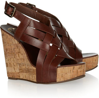 Tory Burch Ace leather wedge sandals