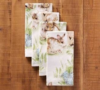 Pottery Barn Pasture Bunny Napkin, Set of 4
