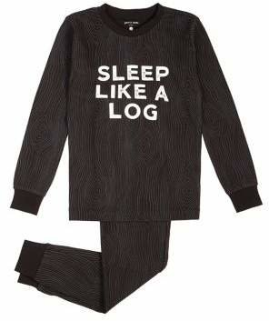 Petit Lem Little Boy's Cozy Cabin Two-Piece Pyjama Set