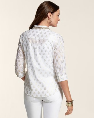 Chico's Foiled Delight Lanie II Top