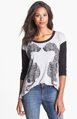 Bobeau Graphic Dropped Shoulder Tee