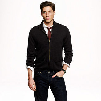 J.Crew Merino wool zip sweater-jacket