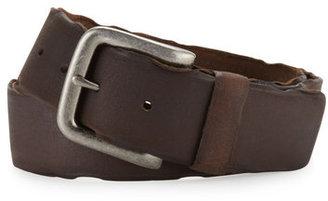 Neiman Marcus Vintage Oiled Leather Belt, Dark Brown