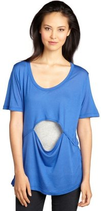 LnA meridian blue stretch jersey cutout 'Moon' t-shirt