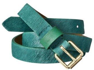 Merona Hair-on Belt - Emerald