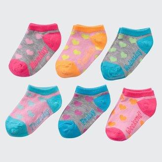 Pink Cookie 6-pk. heart socks - toddler