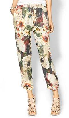 Haute Hippie Floral Silk Pant