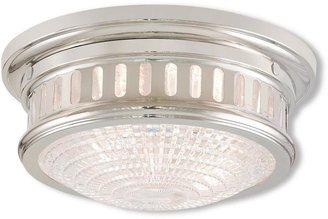 Livex Lighting Berwick 2-Light Polished Nickel Flushmount