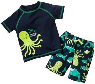 Carter's octopus swim top & swim trunks set - baby