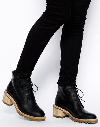 Asos RUNAWAY Lace Up Ankle Boots