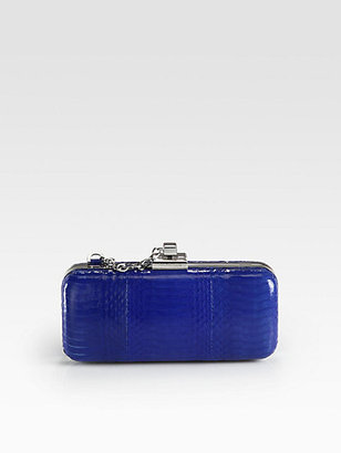 Rachel Zoe Margaux Snake Embossed Leather Clutch