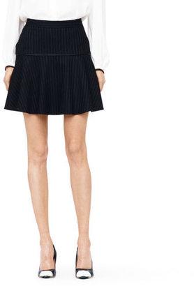 Club Monaco Minkie Pinstripe Wool Skirt