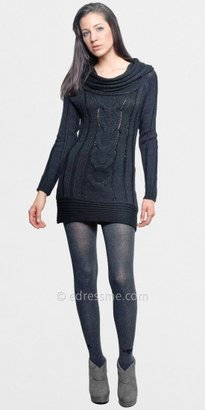 Chaudry Cable Knit Sweater Dresses