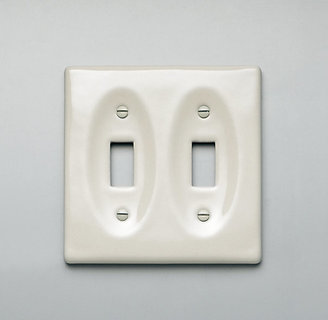 Restoration Hardware Ceramic Double Switch Plate