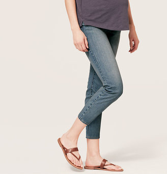 LOFT Maternity Cropped Jeans in Residual Blue Wash