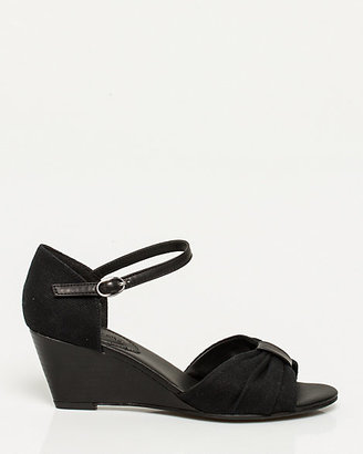 Le Château Canvas Ankle Strap Wedge