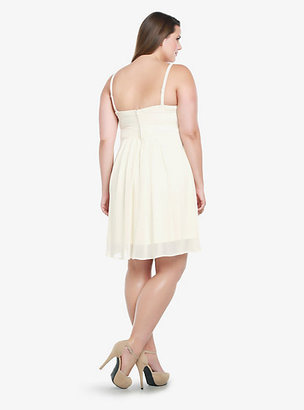 Torrid Rhinestone Embellished Chiffon Dress