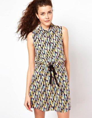 Vero Moda Print Dress With Drawstring Waist