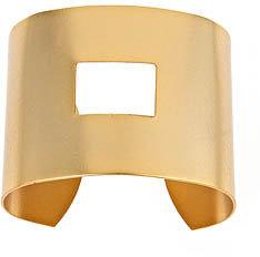 Andrea Valentini Goldtone Square Cuff