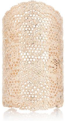 Aurelie Bidermann 18-karat rose gold-dipped lace cuff