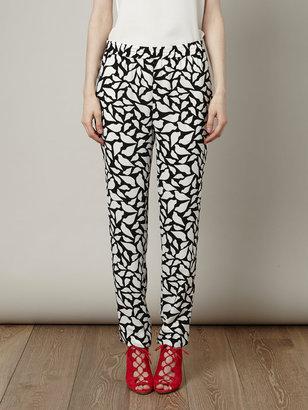 Diane von Furstenberg Lola lips print trousers