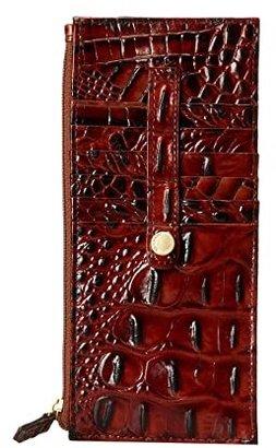 Brahmin Melbourne Credit Card Wallet (Pecan) Wallet Handbags