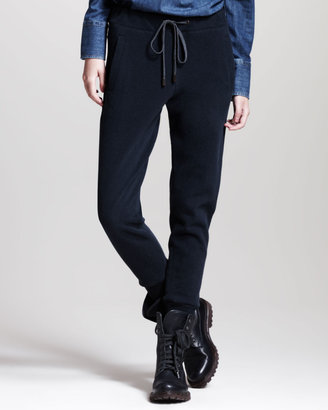 Brunello Cucinelli Cotton Drawstring Spa Pants, Moonlight