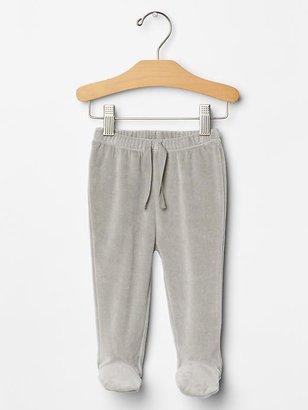 Gap Organic velour footed pants