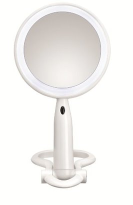 Conair Plastic LED Mirror, White Finish $22.99 thestylecure.com