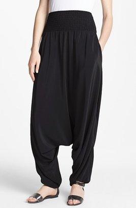 Eileen Fisher Smocked Silk Harem Pants