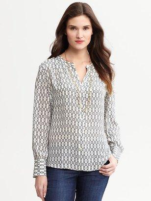Banana Republic Brenna printed silk blouse