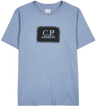 C.P. Company Blue Logo-print Cotton T-shirt