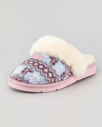 UGG Cozy Nordic Knit Shearling Slipper