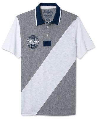 American Rag Shirt, Slub Slash Short Sleeve Polo Shirt