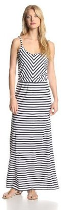 Juicy Couture Women's Micro Terry-Stripe Maxi Dress