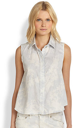 Rag and Bone Floral-Print Tent Blouse
