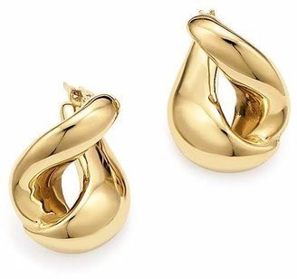 Bloomingdale's 14K Yellow Gold Foldover Earrings - 100% Exclusive