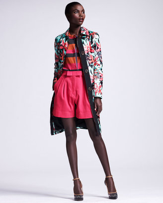 Lanvin Bow-Front Pleated Shorts