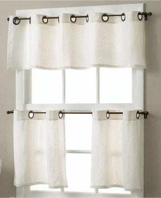 "Elrene Essex Linen Grommet 30"" x 24"" Cafe Curtains Pair"