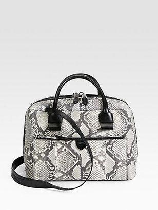 Marc Jacobs Antonia Small Python Top Handle Bag